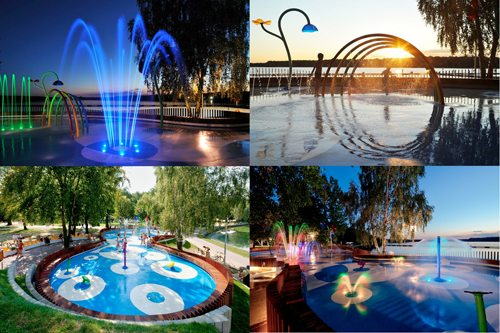 1. Water Playground GÇô Tychy, Poland